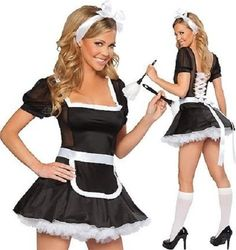 New Women Sexy Maid Servant uniform Costume 1208 Sexy Lingerie French Maid Costumes for Women Lolita Cosplay, Maid Cosplay, Costume Français, Costume Sexy, Sexy Lingerie, Leather Lingerie, Fashion Lingerie, Lingerie Dress, Dress Fashion