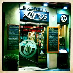 Braseria Xorus in Poblenou Grill Restaurant, Broadway Shows, Barcelona, Neon Signs, Spaces, Style, Small Grill, Home Made, Broadway Plays