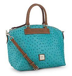 Turquoise Totes: Dooney & Burke satchel