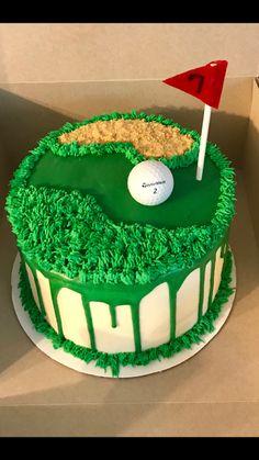 Golf Themed Cakes, Golf Birthday Cakes, Golf Cakes, Groomsman Cake, 30 Cake, Big Cakes, Cupcake Cakes, Cupcakes, Creative Cakes
