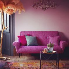 My new compact and comfy button back Kemp sofa in bright pink tweed. Available now @harrods and made by @duresta_upholstery. Shot by @sibev styled by @interiorseditor @telegraph magazine #mwfurniture