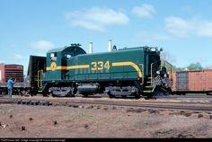 RailPictures.Net Photo: MEC 334 Maine Central EMD SW9 at Waterville, Maine by Chuck Schwesinger