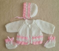 Hand knitted dolls clothes for 13/15  Reborn/Preemie
