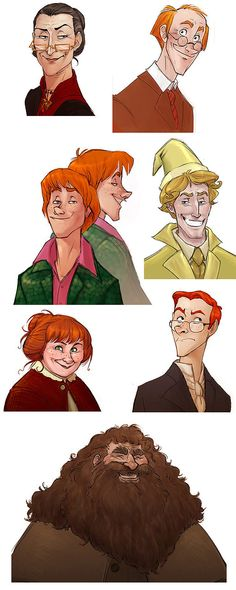 Harry Potter characters in Disney style (Part 3)
