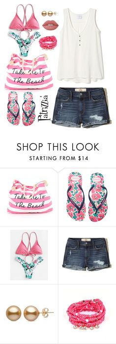Patrizzia27.07.2017a by patrizzia on Polyvore featuring moda, Hollister Co., Havaianas, Victoria's Secret, Lime Crime and patrizziapolyvore