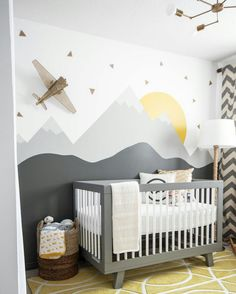 my top 20 kids' room pins of 2015 (the boo and the boy) Kinderzimmer ideen 🍉 Baby Bedroom, Baby Boy Rooms, Baby Room Decor, Baby Boy Nurseries, Nursery Room, Kids Bedroom, Nursery Decor, Bedroom Ideas, Kids Rooms
