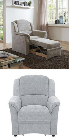 Schon Schlafsessel, Relaxsessel Grau Ausziehbar Textil