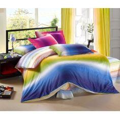 Rainbow Style Paisley Bedding