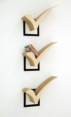 15 creative bookshelf ideas that speak volumes about the home-owner - Check-box bookshelf for someone who gets things done