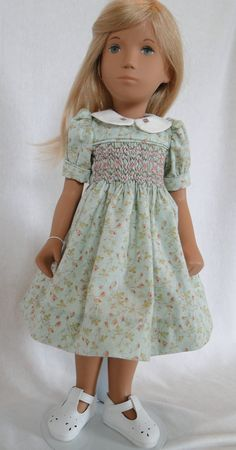 Hand smocked dress for Sasha doll by dancingwithneedles on Etsy, $37.00