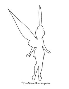 Tinkerbell silhouettes clipart clip art digital for Tinkerbell stencil