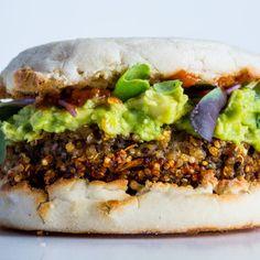 Stellar Quinoa Burger Recipe from Cafe Pasqual's in Santa Fe