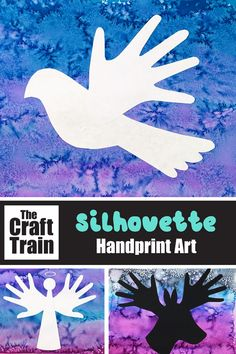 Christmas handprint art project for kids with printable template