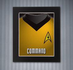 Star Trek Command Shirt Print - 8x10 by KnerdKraft on Etsy