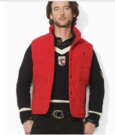 2561071a3ea1 Polo officiel - polo veste hommes mode coreenne slim down pas cher rouge  Veste Sans Manche Ralph Lauren Homme