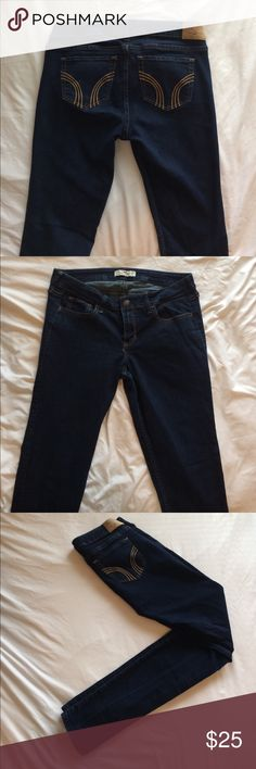 Hollister brand jean leggings I bought them from Hollister and only wore them a couple times! Size 9 Long. Width: 29. Length: 33. Hollister Jeans Skinny