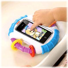 This is an amazing case by fisher price that baby proofs your iphone! $20