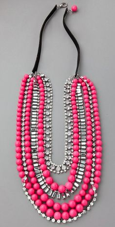 Aida Kibur Multi-Strand Neon Necklace ::$174:: do the neon trend without too much commitment