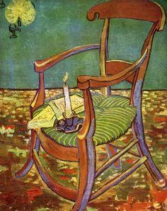 Gauguin's Chair. Van Gogh. December 1888. Arles. Oil on canvas. 91 x 72 cm. Rijksmuseum. Amsterdam.