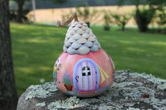 A Fairy Beach Cottage by paintdrawlaugh on Etsy, $55.00