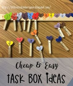Making task boxes is like therapy to me... there's nothing like spending a few bucks at Target or the Dollar tree and making new tasks! Here...
