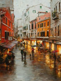 "Dmitry Danish ""Rainy Mood, Venice"""