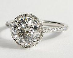 Floating Halo Diamond Engagement Ring in 14k White Gold #BlueNile #Engagement