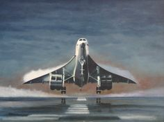 Concorde is such a beautiful aircraft and is sadly missed here she is just lifting off with drag vortex clearly visible f. Civil Aviation, Aviation Art, Concorde, Military Jets, Military Aircraft, Tupolev Tu 144, Luxury Jets, Passenger Aircraft, Aerial Arts