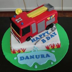 Fireman Sam Fire Truck Cake  on Cake Central