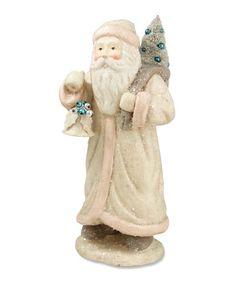 Pastel Santa With Bell | Bethany Lowe Pink & Blue Santa
