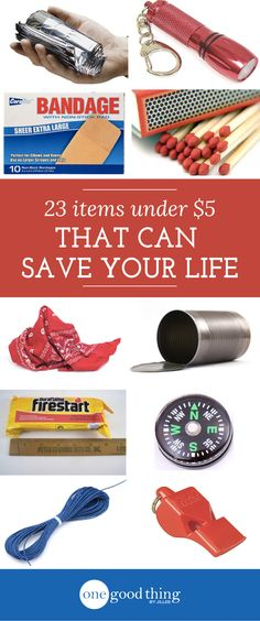 You don't have to spend a lot of money to be prepared for life's unexpected emergencies!