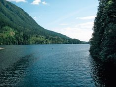 Buntzen Lake near Port Moody, BC. Quite easy loop hike with great small beach for a swim away from the crowds 2/3 in of the hike if starting from the west.