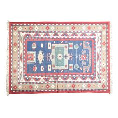 (11DA) A 20th Century Needlepoint Floor Rug n\A 20th Century Needlepoint Floor Rug Concentric red bordering over a earthen ground.… / MAD on Collections - Browse and find over 10,000 categories of collectables from around the world - antiques, stamps, coins, memorabilia, art, bottles, jewellery, furniture, medals, toys and more at madoncollections.com. Free to view - Free to Register - Visit today. #Rugs #Carpets #Textiles #MADonCollections #MADonC