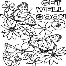 a Flowers and Butterflies Get Well Soon Card