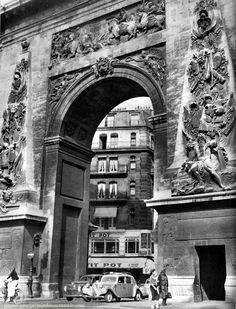 Porte Saint-denis Paris 1950s Janine Niepce