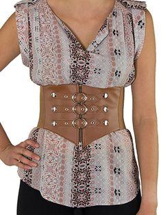 Bright Sexy Women Corset Belt Pu Leather Cummerbunds Zipper Bandage Hot Elastic Cincher Wide Waistband Cummerbund Black Ceinture Femme To Suit The PeopleS Convenience Women's Belts