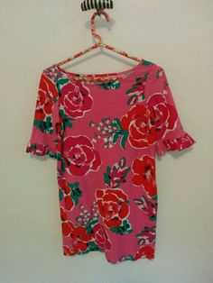 Lilly Pulitzer Somerset A Thing Called Love Pink Floral Dress Size S Cotton  #LillyPulitzer #Shift #Casual
