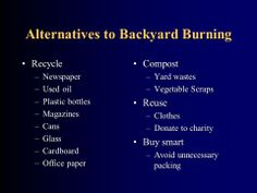 Eco Evolution BlogBurning of waste ~ Not in my back yard!