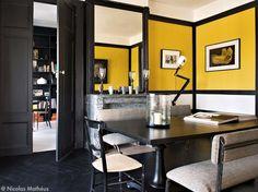 sarah lavoine appartement - murs jaunes