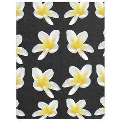 Frangipani Sensation Large Fleece Blanket. - flowers floral flower design unique style