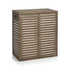 Dixon Bamboo Hamper with Liner  | Crate and Barrel