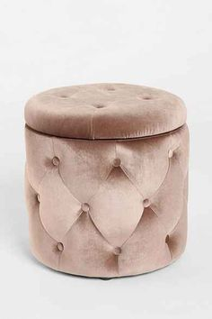 Ava Storage Ottoman - small storage ottoman perfect to combine with a pop up coffee table or small side table for extra seating and toy storage