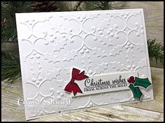 A Make It In Minutes throwback video - create this gorgeous embossed Holly Berry card in minutes! Check it out at www.SimplySimpleStamping.com and look for the November 8, 2017 blog post