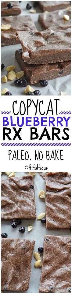 Copycat Blueberry RX Bars | Paleo Snack Bars | No Bake Snack Bars | Meatless Monday | Healthy Snack | Whole 30 Snacks | Healthy Recipes | Paleo Recipes