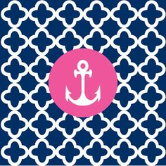 Our Elise Anchor Navy Beverage Napkins feature a navy background with a unique white pattern and a pink circle surrounding a ship's anchor. Each package contains 24 napkins. Nautical Party, Nautical Wedding, Navy Party, Nautical Nursery, Pink Polka Dots, Navy Pink, Blue Chevron, Banners, Beverage Napkins