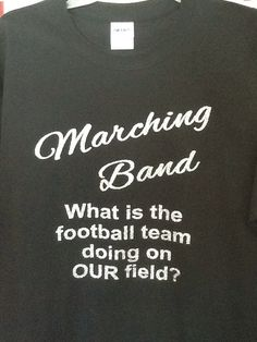 Custom Marching band glitter fitted t-shirt by JustStuffOhio on Etsy https://www.etsy.com/listing/154678408/custom-marching-band-glitter-fitted-t
