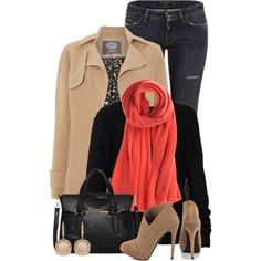 A fashion look from January 2015 featuring Scoop sweaters, Vince Camuto coats and Dolce&Gabbana jeans. Browse and shop related looks.