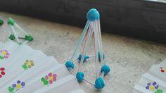 Figuras geométricas con plastilina y pajitas. Different Shapes, Straws, Play Dough