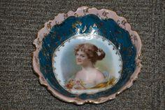 Josef Riedl Royal Vienna Style Portrait Bowl Beehive Austria Circa 1890 - 1910 by FolkloreAndYore on Etsy