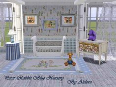 Sims 3 Finds - Peter Rabbit Blue Nursery at Alelore Sims Blog